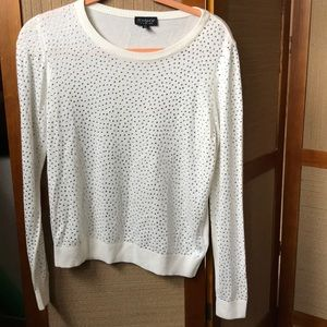 TOPSHOP CREAM SWEATER SIZE 6